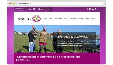 Izdelava spletne strani semplus.si